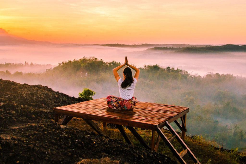 Glückliches Leben Meditation