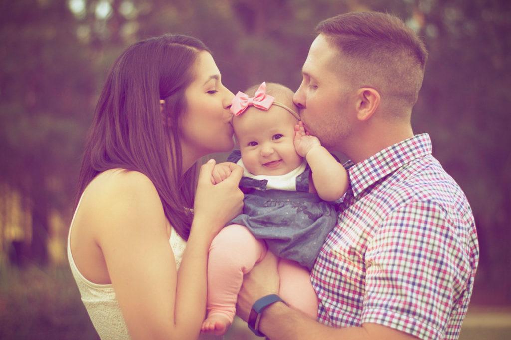 glücklich sein und familie