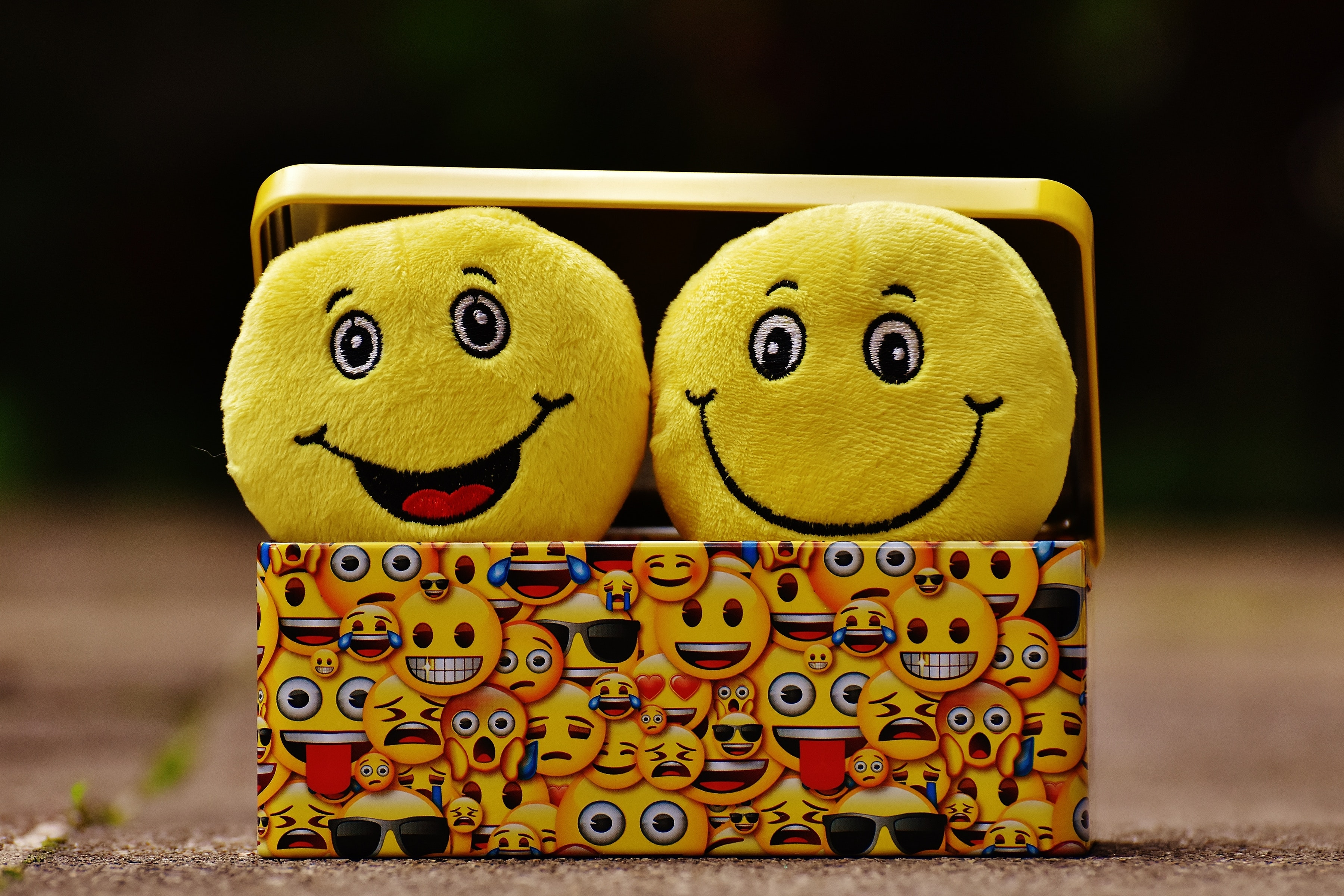 Lachende Emojis