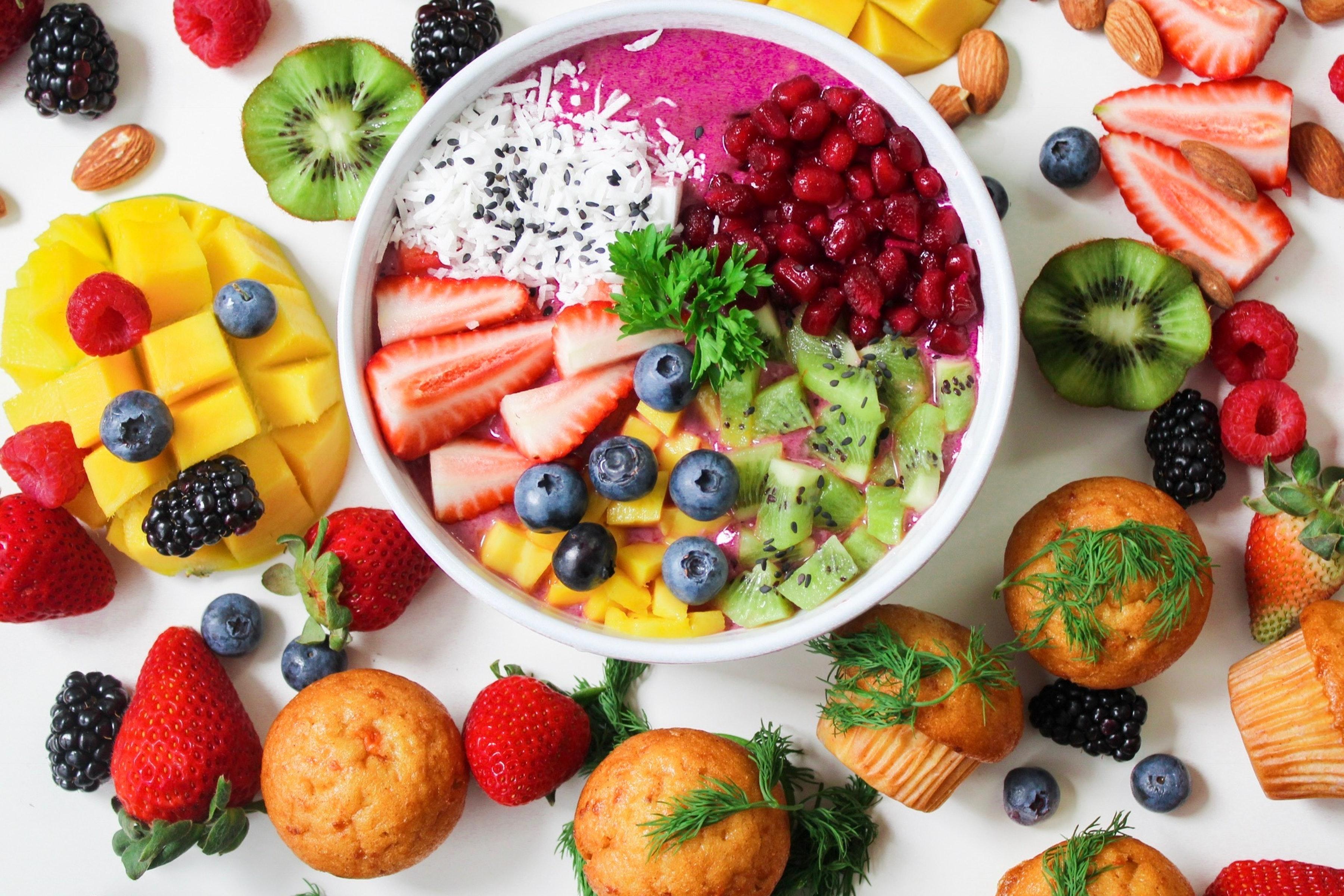 Depression bekämpfen Früchte auf dem Tisch
