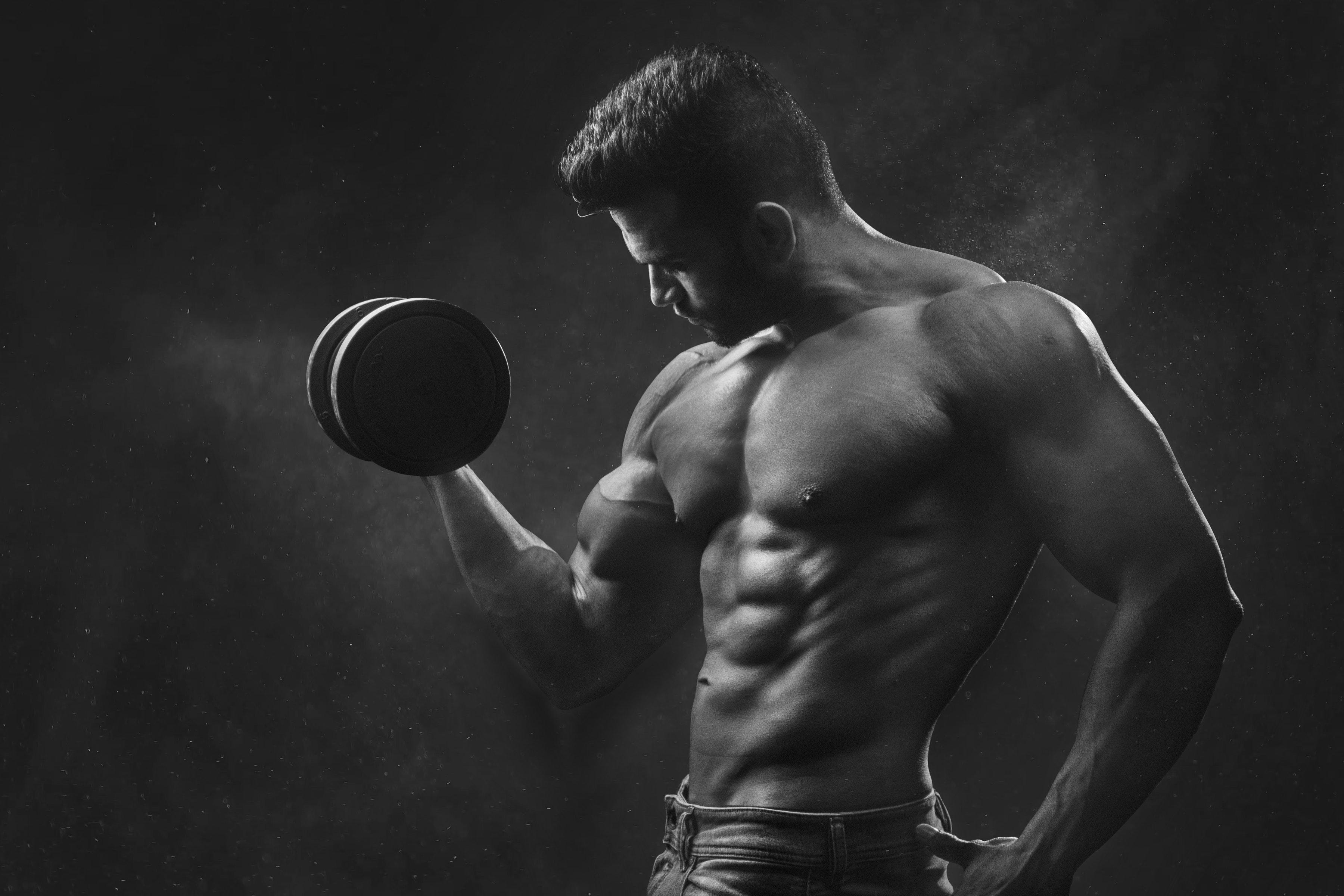 attraktiver werden Muskulöser Mann