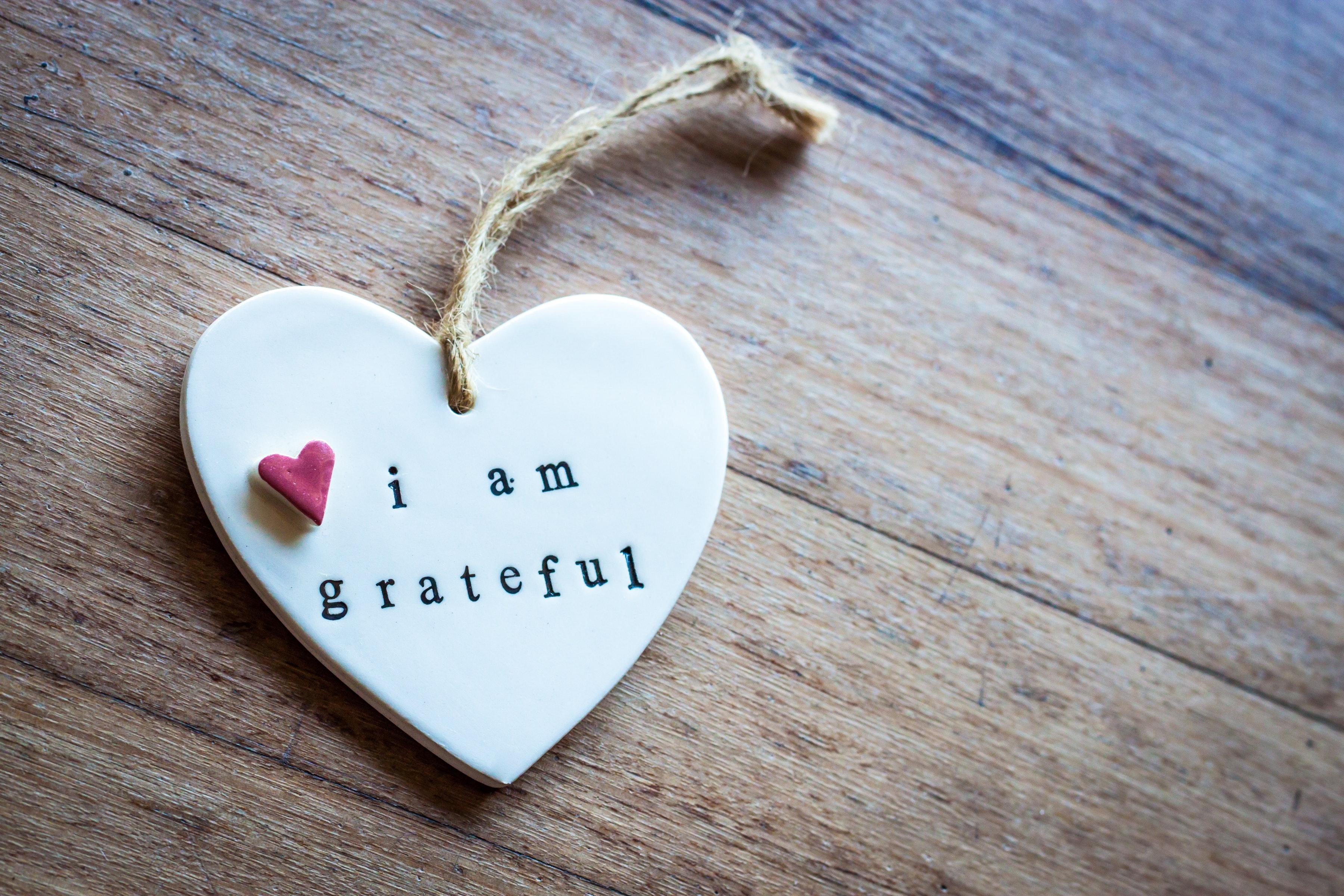 Depression bekämpfen - Dankbarkeitsschild